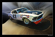 Blake Richards Framed Prints - 1969 Boss 302 Mustang Framed Print by Blake Richards