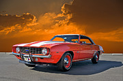 Alloy Framed Prints - 1969 Camaro COPO 3 Framed Print by Dave Koontz