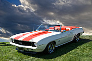 Alloy Framed Prints - 1969 Camaro SS396 Convertible Framed Print by Dave Koontz