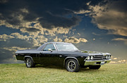 Alloy Framed Prints - 1969 Chevrolet El Camino SS396 Framed Print by Dave Koontz