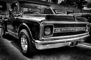 Monotone Prints - 1969 Chevrolet Pickup V Print by David Patterson