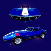 Car Photographs Art - 1969 Chevy Corvette by Jim Carrell