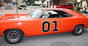 Racing Number Framed Prints - 1969 Dodge General Lee Framed Print by John Telfer