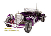 Specs Prints - 1969 Excalibur SS Roadster Print by Jack Pumphrey