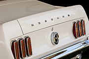 1969 Photos - 1969 Ford Mustang Boss 429 Taillight Emblem by Jill Reger
