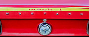 Muscle Car Framed Prints - 1969 Ford Mustang Mach 1 Rear Emblems Framed Print by Jill Reger