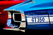 1969 Photos - 1969 Ford Mustang Shelby GT350 Grille Emblem by Jill Reger