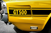 Yellow Cobra Prints - 1969 Ford Shelby Mustang GT500 Print by Gordon Dean II