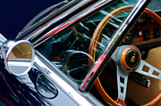 1969 Photos - 1969 Lamborghini Islero Steering Wheel Emblem by Jill Reger