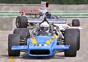 Indy Car Prints - 1969 Lola T190 F5000 Indy Race Car Print by Tad Gage