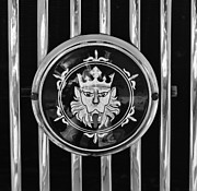 Roadster Photo Framed Prints - 1969 Morgan Roadster Grille Emblem 3 Framed Print by Jill Reger