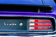 1969 Photos - 1969 Plymouth Barracuda - Cuda Emblem - Taillight by Jill Reger