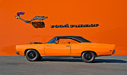 Alloy Prints - 1969 Plymouth Road Runner Print by Dave Koontz