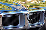 Old Car Metal Prints - 1969 Pontiac Firebird 400 Grille Metal Print by Jill Reger