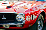 Front End Framed Prints - 1969 Shelby Cobra GT500 Front End - Grille Emblem Framed Print by Jill Reger