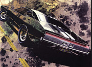 Concepts  Mixed Media - 1970 BARRACUDA Plymouth vintage styling design concept sketch Frank Kendrickson by ArtFindsUSA
