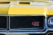 1970 Buick Gs Grille Emblem Print by Jill Reger