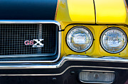 Muscle Car Framed Prints - 1970 Buick GSX Grille Emblem Framed Print by Jill Reger