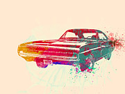 Landmarks Metal Prints - 1970 Dodge Charger 1 Metal Print by Irina  March