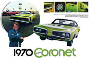 Superbee Prints - 1970 Dodge Coronet R/T Print by Digital Repro Depot