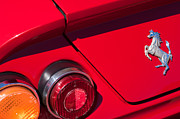 1970 Photos - 1970 Ferrari 365 GTB-4 Daytona Berlinetta Taillight Emblem by Jill Reger
