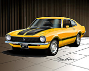 Custom Ford Originals - 1970 FORD MAVERICK GRABBER-Grabber Orange by Danny Whitfield
