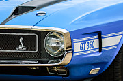 Replica Photos - 1970 Ford Mustang Convertible GT350 Replica Grille Emblem by Jill Reger