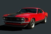 Mach 1 Framed Prints - 1970 Mustang Mach 1 Framed Print by Tim McCullough