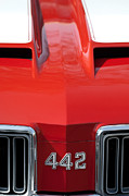 Oldsmobile Photos - 1970 Oldsmobile 442 Hood Emblem by Jill Reger