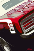 Lights Digital Art Originals - 1970 Plymouth Barracuda Cuda 340 by Gordon Dean II