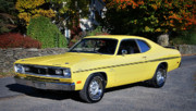 Mopar Photo Metal Prints - 1970 Plymouth Duster340 Metal Print by Thomas Schoeller