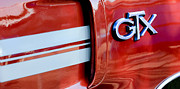 Muscle Cars Photos - 1970 Plymouth GTX Emblem by Jill Reger