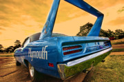 Race Digital Art Originals - 1970 Plymouth Road Runner Superbird by Gordon Dean II