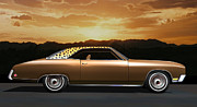 Custom Automobile Digital Art Posters - 1970 Riviera Poster by Stuart Swartz
