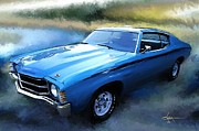 Tire Prints - 1971 Chevy Chevelle Print by Robert Smith