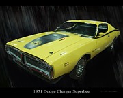 Banana Art Prints - 1971 Dodge Charger Superbee Print by Chris Flees