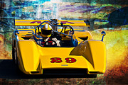 Racing Car Photographs Framed Prints - 1971 McLaren M8E Can-Am Framed Print by Stuart Row