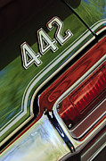 Muscle Car Photos - 1971 Oldsmobile 442 Taillight Emblem by Jill Reger
