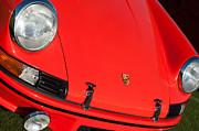 1971 Porsche 911 T Porsche Hood Emblem Print by Jill Reger