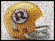 Paul Van Scott Framed Prints - 1971 Redskins Helmet Mosaic Framed Print by Paul Van Scott