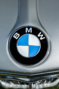 Bmw Vintage Cars Prints - 1972 BMW 2000 Tii Touring Emblem Print by Jill Reger