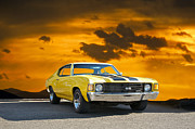 Alloy Framed Prints - 1972 Chevelle SS Framed Print by Dave Koontz