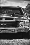 Monochrome Hot Rod Posters - 1972 Chevrolet Chevelle SS Poster by Gordon Dean II