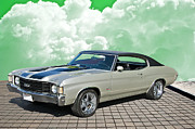 Alloy Framed Prints - 1972 Chevrolet Chevelle SS454 Framed Print by Dave Koontz