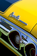 Muscle Car Metal Prints - 1972 Chevrolet Chevelle Taillight Emblem Metal Print by Jill Reger