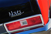 Nova Framed Prints - 1972 Chevrolet Nova SS Taillight Emblem Framed Print by Jill Reger