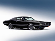 American Muscle Car Prints - 1972 Dodge Charger Print by Sanely Great