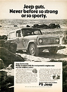 Old Auto Posters - 1972 Jeep Commando Poster by Nomad Art And  Design