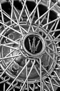 4 Photos - 1972 Maserati Ghibli 4.9 SS Spyder Wheel Emblem by Jill Reger