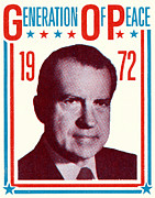 Republican Paintings - 1972 Nixon Presidential Campaign by Historic Image